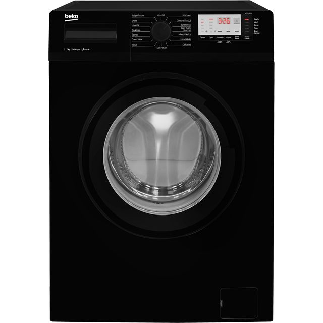 Beko WTG741M1B 7Kg Washing Machine with 1400 rpm - Black - A+++ Rated - WTG741M1B_BK - 1