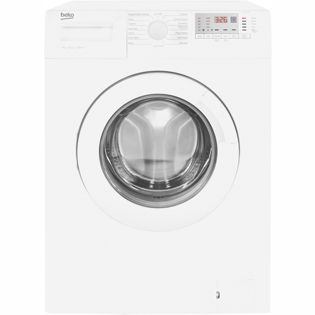 Beko WTG741M1W 7Kg Washing Machine with 1400 rpm - White - WTG741M1W_WH - 1
