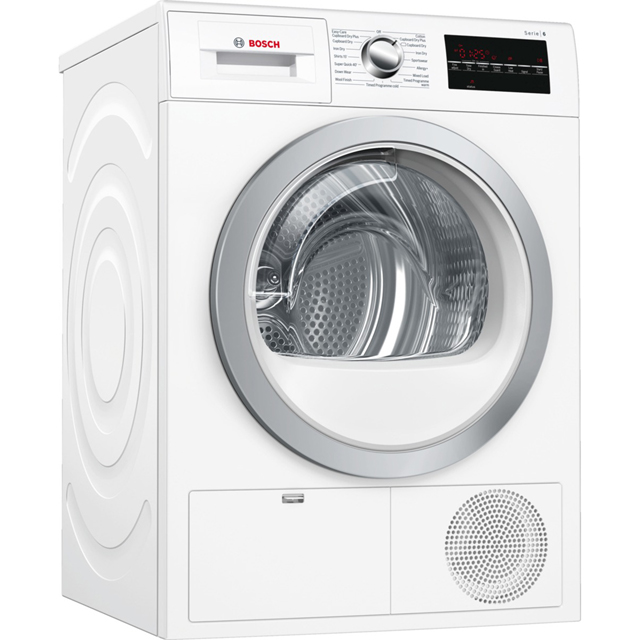 Bosch Serie 6 WTG86402GB 8Kg Condenser Tumble Dryer - White - B Rated - WTG86402GB_WH - 1