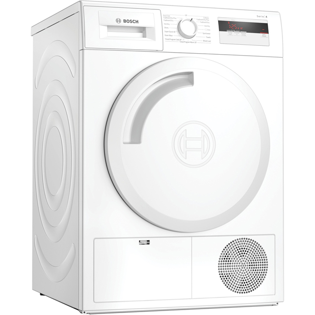 Bosch Serie 4 WTH84000GB Heat Pump Tumble Dryer - White - WTH84000GB_WH - 1