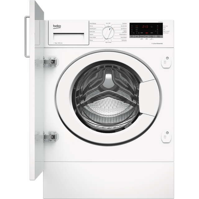 Beko WTIK76151F Integrated 7Kg Washing Machine with 1600 rpm - White - A+++ Rated