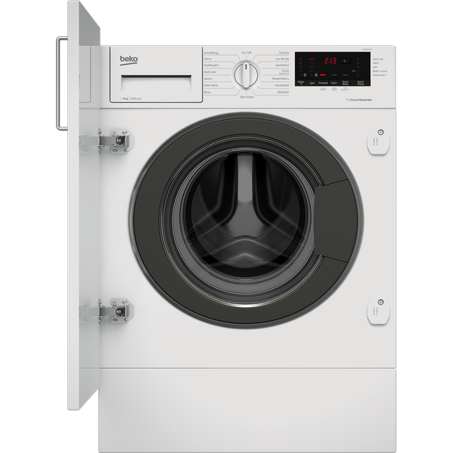 Beko WTIK86151F Integrated 8Kg Washing Machine with 1600 rpm - White - A+++ Rated