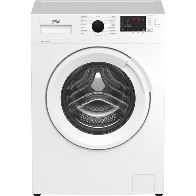 Beko WTL84121W 8Kg Washing Machine - White - WTL84121W_WH - 1