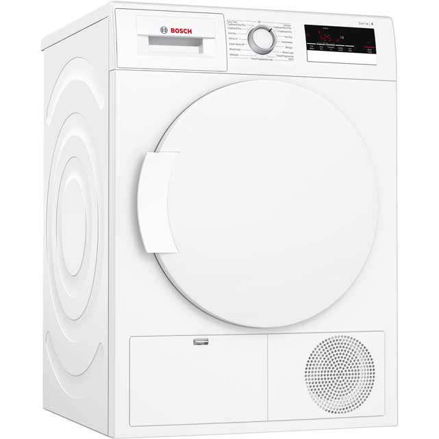Bosch Serie 4 WTN83200GB Free Standing Condenser Tumble Dryer in White