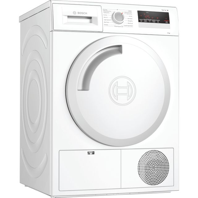 Bosch Serie 4 WTN83201GB Condenser Tumble Dryer - White - WTN83201GB_WH - 1