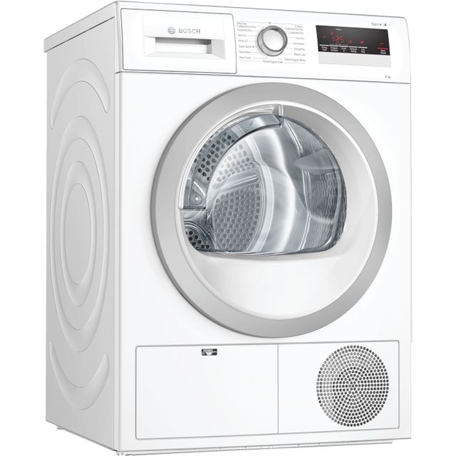 Bosch Serie 4 WTN85251GB Condenser Tumble Dryer - White - WTN85251GB_WH - 1