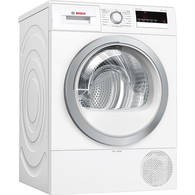Bosch Serie 4 WTR85V21GB Heat Pump Tumble Dryer - White - WTR85V21GB_WH - 1