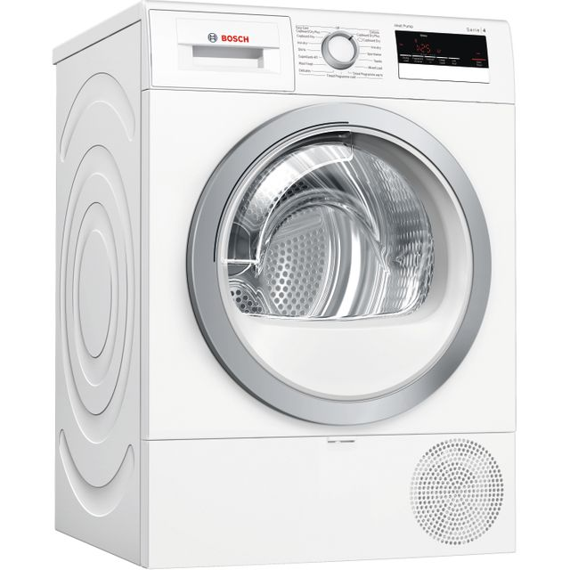 Bosch Serie 4 WTR85V21GB 8Kg Heat Pump Tumble Dryer - White - A++ Rated - WTR85V21GB_WH - 1