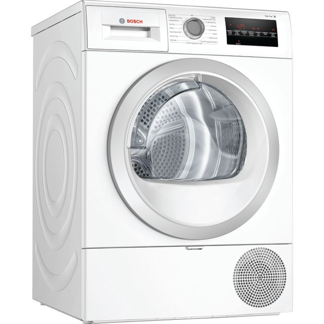 Bosch Serie 6 WTR88T81GB 8Kg Heat Pump Tumble Dryer - White - A+++ Rated