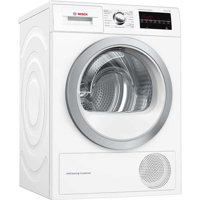 Bosch Serie 6 WTW85492GB Free Standing Condenser Tumble Dryer in White