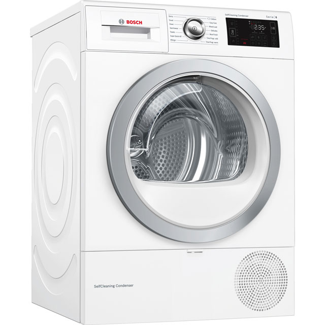 Bosch Serie 6 WTWH7660GB Heat Pump Tumble Dryer - White - WTWH7660GB_WH - 1