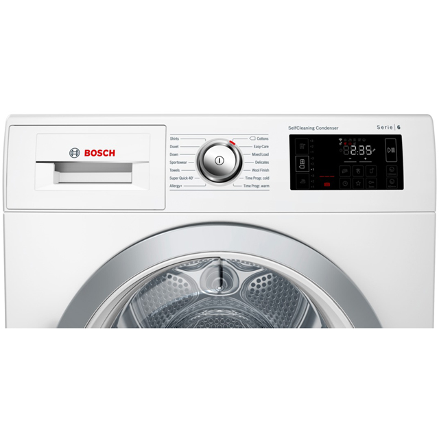 Bosch Serie 6 WTWH7660GB Heat Pump Tumble Dryer - White - WTWH7660GB_WH - 4