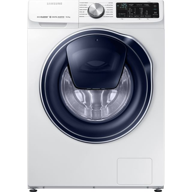 Samsung AddWash™ ecobubble™ WW10N645RPW Wifi Connected 10Kg Washing Machine with 1400 rpm - White - A+++ Rated - WW10N645RPW_WH - 1