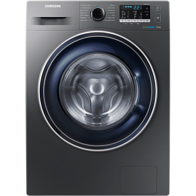 Samsung Ecobubble WW70J5555FX 7Kg Washing Machine with 1400 rpm - Graphite - A+++ Rated