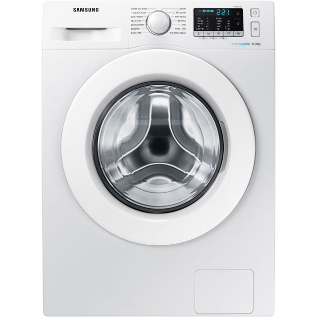 Samsung ecobubble™ WW80J5355MW 8Kg Washing Machine with 1200 rpm - White - A+++ Rated