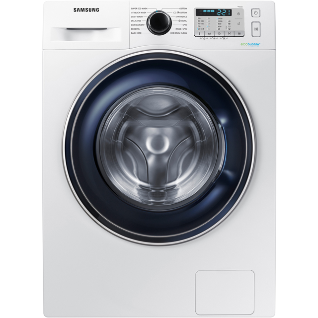 Samsung ecobubble™ WW80J5555FA 8Kg Washing Machine with 1400 rpm - White - A+++ Rated - WW80J5555FA_WH - 1