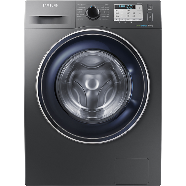 Samsung ecobubble™ WW80J5555FC 8Kg Washing Machine with 1400 rpm - Graphite - A+++ Rated - WW80J5555FC_GH - 1