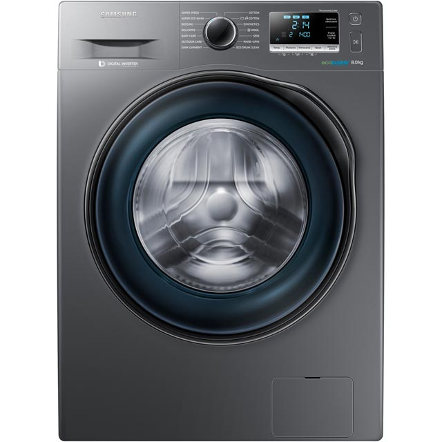 Samsung Ecobubble WW80J6410CX Free Standing Washing Machine in Graphite