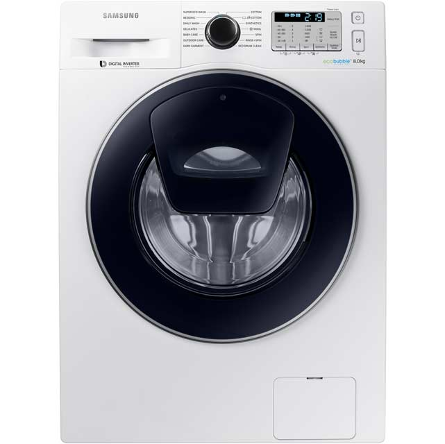 Samsung AddWash™ ecobubble™ WW80K5413UW 8Kg Washing Machine with 1400 rpm - White - A+++ Rated - WW80K5413UW_WH - 1
