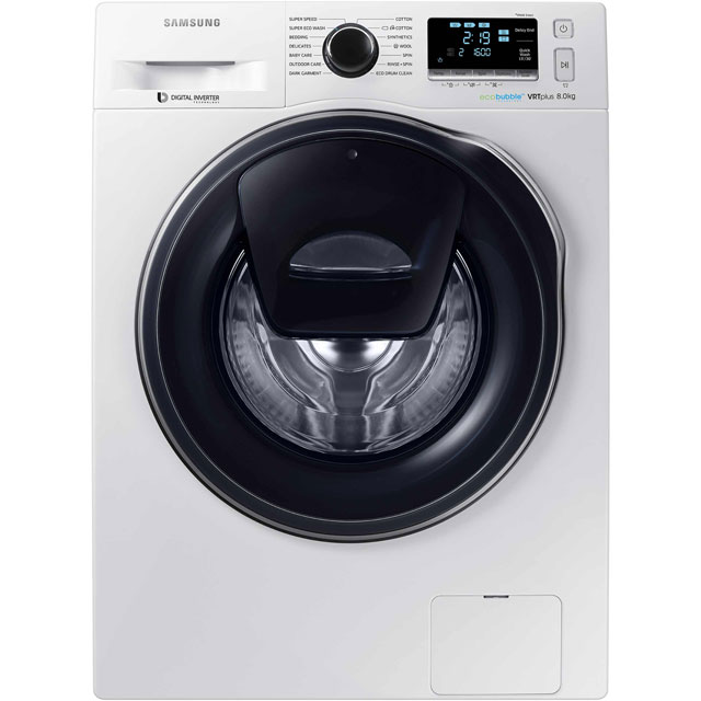 Samsung AddWash™ ecobubble™ WW80K6610QW 8Kg Washing Machine with 1600 rpm - White - A+++ Rated - WW80K6610QW_WH - 1