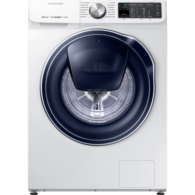 Samsung QuickDrive™ WW80M645OPM Wifi Connected 8Kg Washing Machine with 1400 rpm - White - A+++ Rated