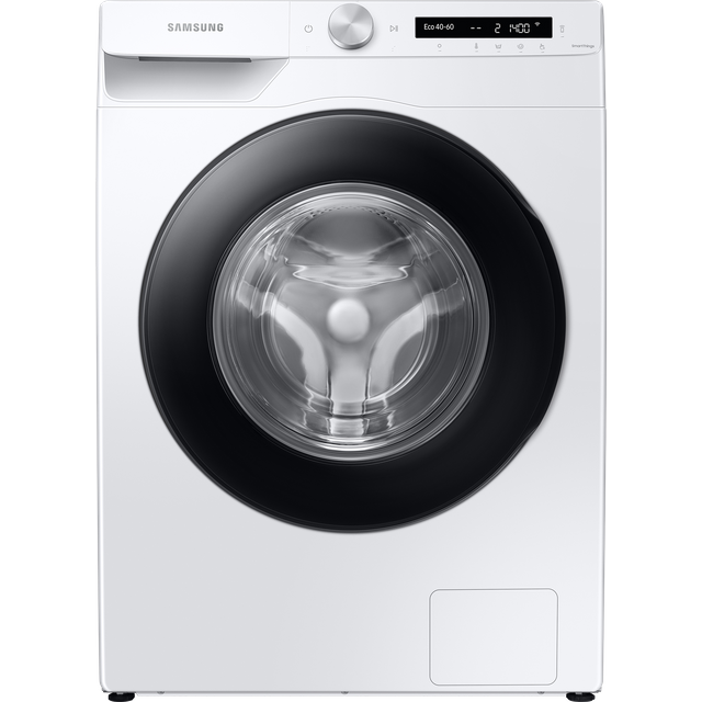 """Samsung AutoDoseâ""""¢ WW80T534DAW Wifi Connected 8Kg Washing Machine with 1400 rpm - White - A+++ Rate"""