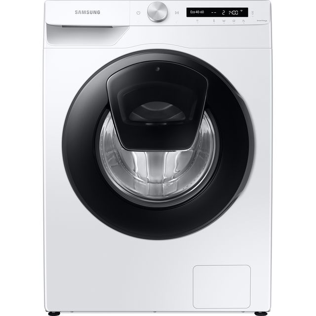"Samsung AddWashâ""¢ ecobubbleâ""¢ WW80T554DAW Wifi Connected 8Kg Washing Machine with 1400 rpm - White"