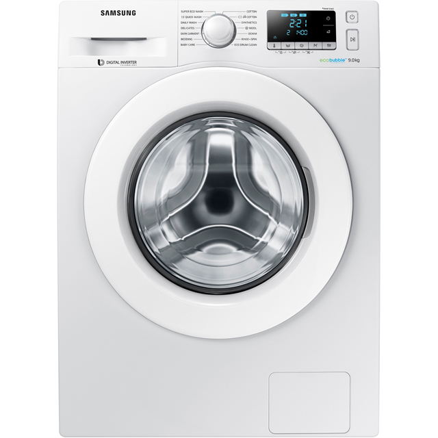 Samsung ecobubble™ 9Kg Washing Machine - White - A+++ Rated