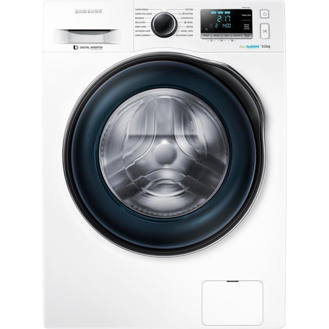 "Samsung ecobubbleâ""¢ WW90J6410CW 9Kg Washing Machine with 1400 rpm - White - A+++ Rated"