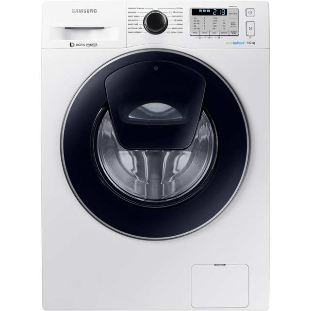 Samsung AddWash™ ecobubble™ WW90K5413UW 9Kg Washing Machine with 1400 rpm - White - A+++ Rated - WW90K5413UW_WH - 1