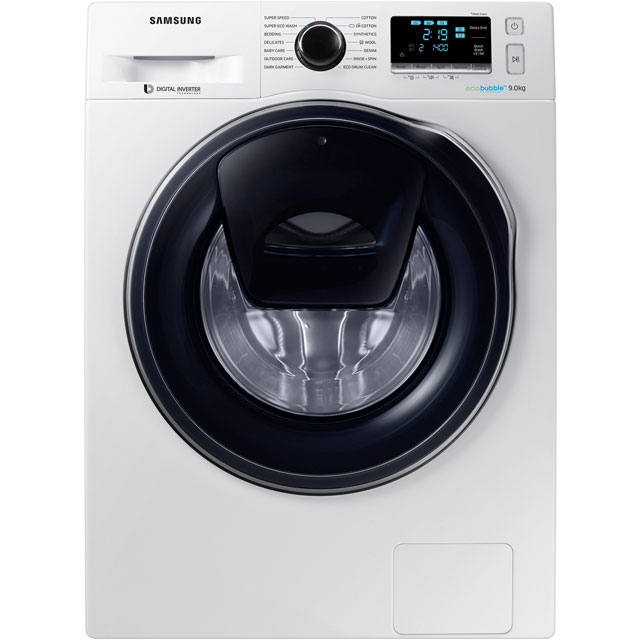 Samsung AddWash™ ecobubble™ WW90K6414QW 9Kg Washing Machine with 1400 rpm - White - A+++ Rated