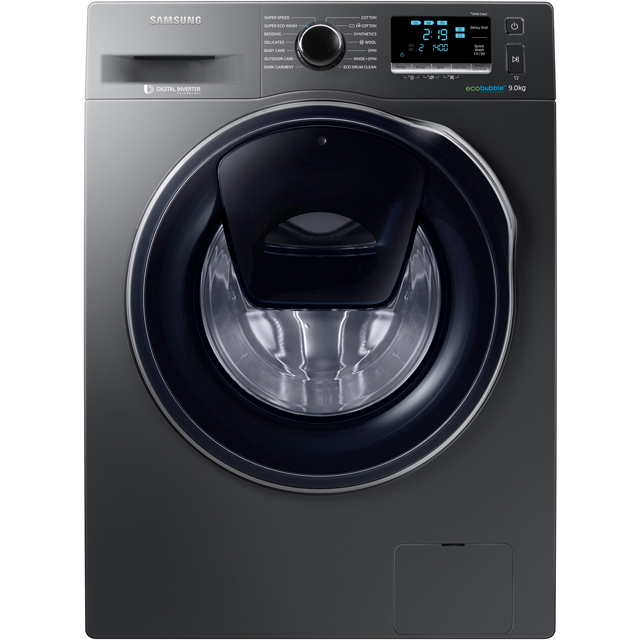Samsung AddWash™ ecobubble™ WW90K6414QX 9Kg Washing Machine with 1400 rpm - Graphite - A+++ Rated
