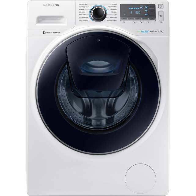 Samsung AddWash™ ecobubble™ WW90K7615OW Wifi Connected 9Kg Washing Machine with 1600 rpm - White - A+++ Rated