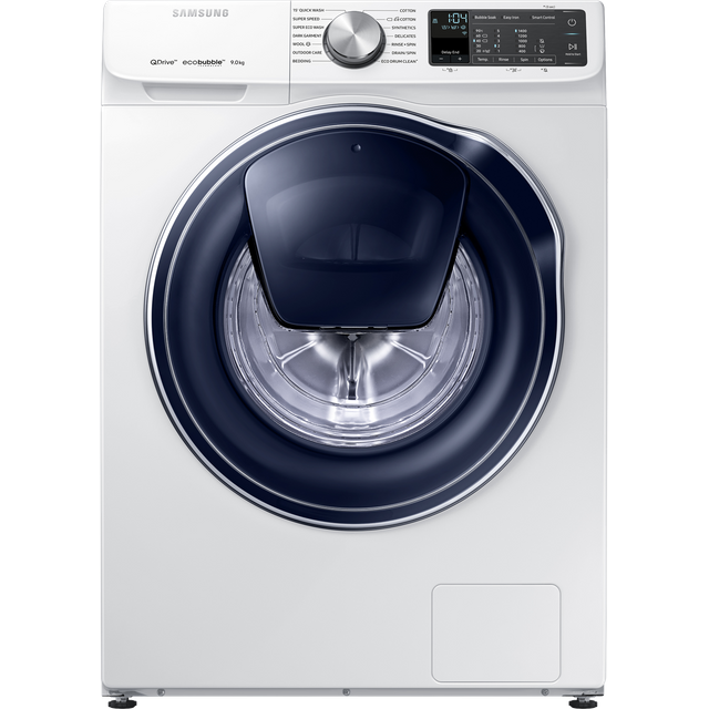 Samsung QuickDrive™ WW90M645OPM Wifi Connected 9Kg Washing Machine with 1400 rpm - White - A+++ Rated - WW90M645OPM_WH - 1