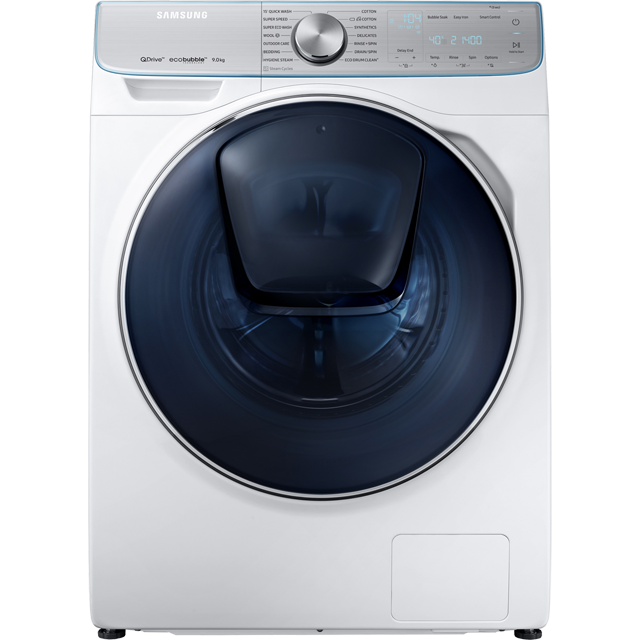 Samsung QuickDrive™ WW90M741NOR Wifi Connected 9Kg Washing Machine with 1400 rpm - White - A+++ Rated - WW90M741NOR_WH - 1