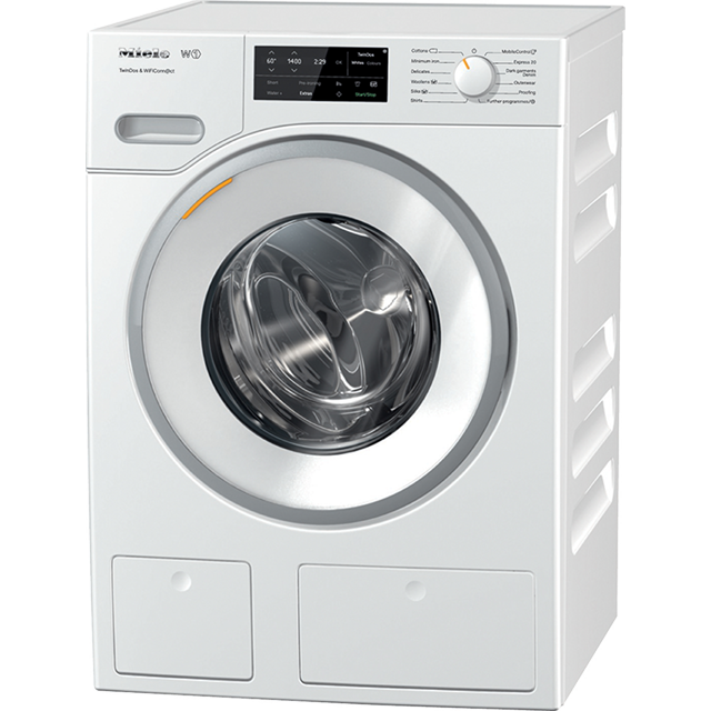 Miele W1 TwinDos WWE660 Wifi Connected 8Kg Washing Machine with 1400 rpm - White - A+++ Rated - WWE660_WH - 1