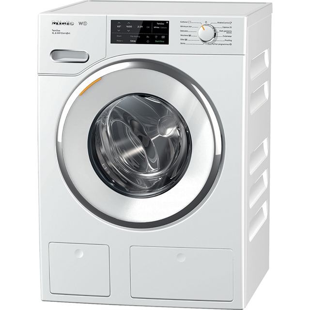 Miele W1 TwinDos WWI660 Wifi Connected 9Kg Washing Machine with 1600 rpm - White - A+++ Rated - WWI660_WH - 1