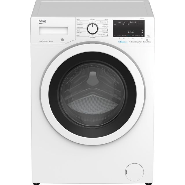 Beko WY86042W 8Kg Washing Machine with 1600 rpm - White - A+++ Rated - WY86042W_WH - 1