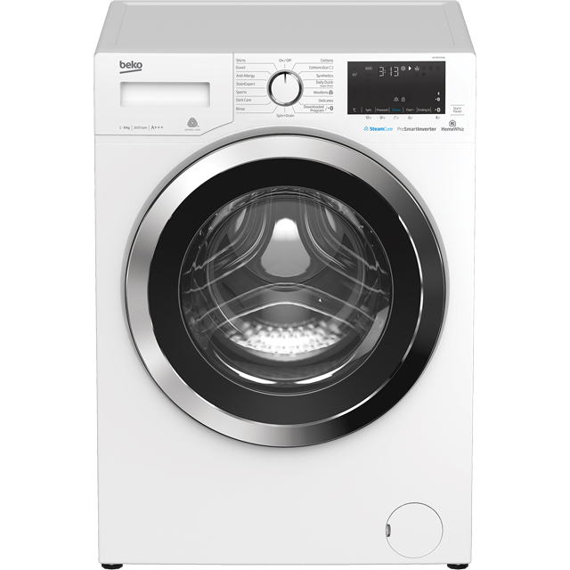 Beko WY96044W 9Kg Washing Machine with 1600 rpm - White - A+++ Rated - WY96044W_WH - 1