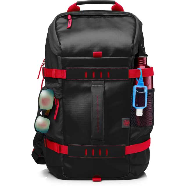 "HP Odyssey Backpack for 15.6"" Laptop Laptop - Black / Red - X0R83AA#ABB - 1"