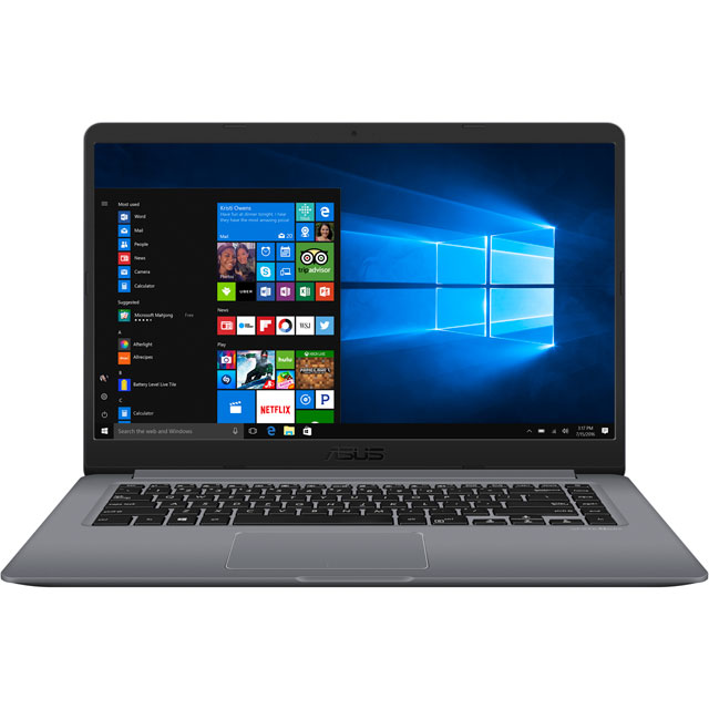 "Asus 15.6"" Laptop Intel® Core™ i7+ 4GB RAM - Grey"