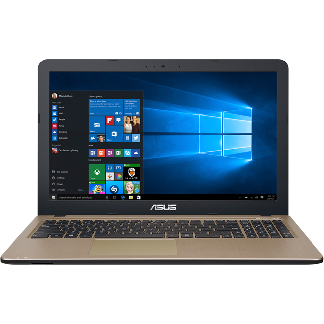 "Asus VivoBook X540NA 15.6"" Laptop - Chocolate Black - X540NA-GQ074T - 1"