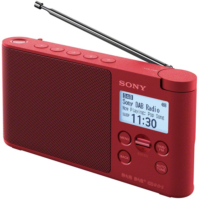 Sony XDRS41DR.CEK DAB / DAB+ Digital Radio with FM Tuner - Red - XDRS41DR.CEK - 1