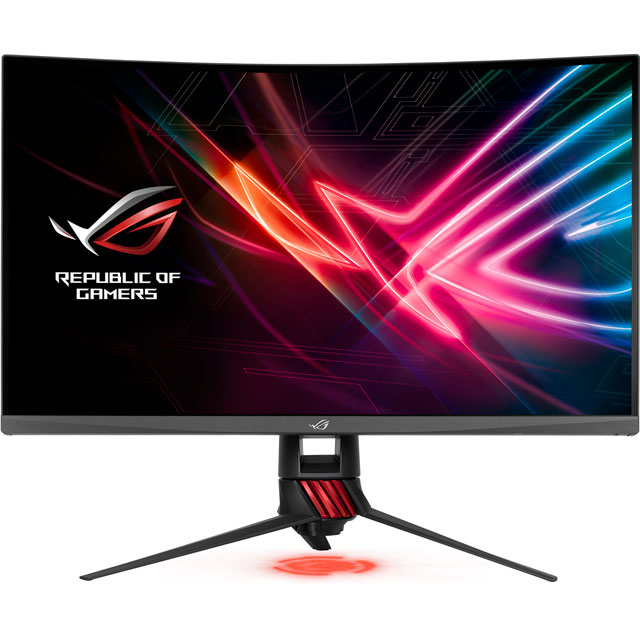 "Asus ROG Strix XG Series WQHD 31.5"" 144Hz Curved Gaming Monitor with AMD FreeSync - Red - XG32VQ - 1"