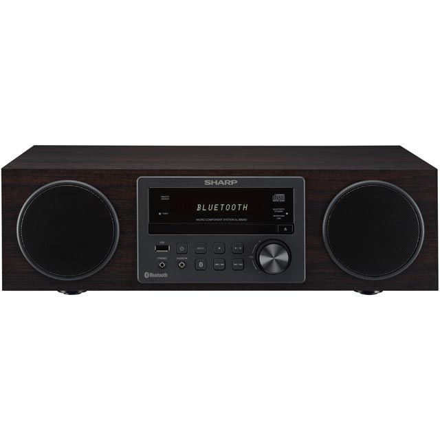 Sharp XL-BB20D 100 Watt All in One Hi Fi System with Bluetooth - Dark Oak
