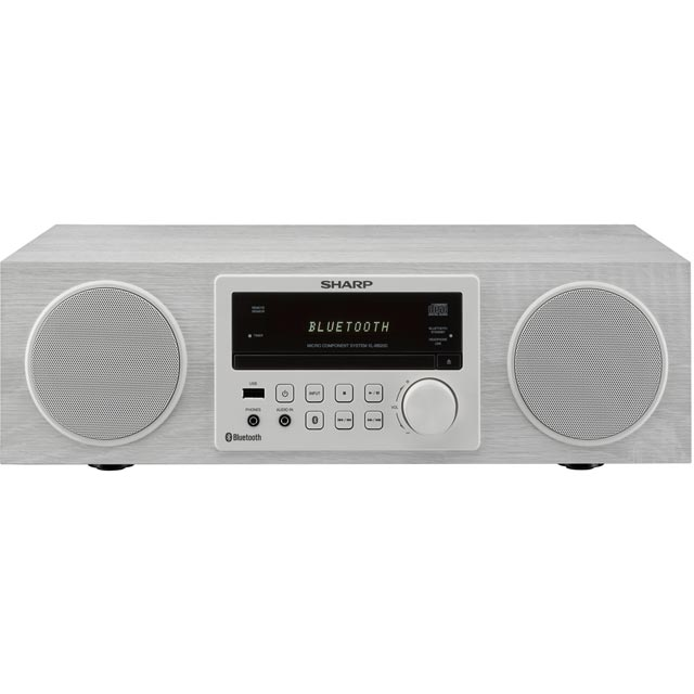 Sharp XL-BB20D 100 Watt All in One Hi Fi System with Bluetooth - White - XL-BB20D_WH - 1
