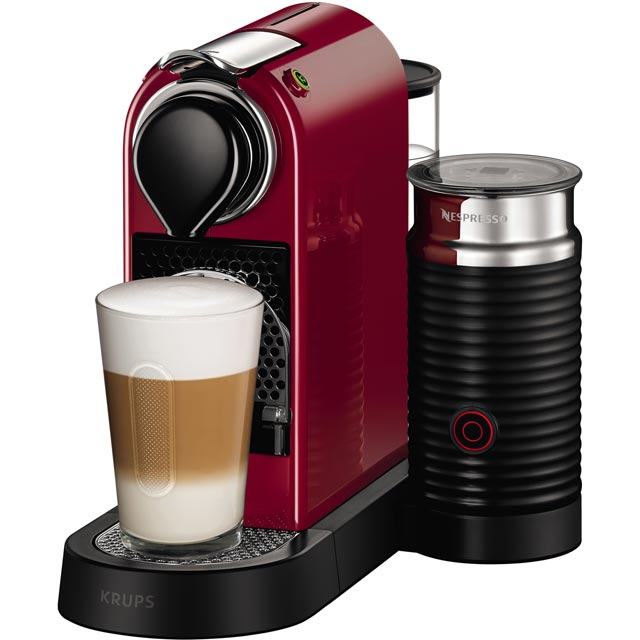Nespresso by Krups XN760540 CitiZ & Milk Coffee Machine - Cherry Red