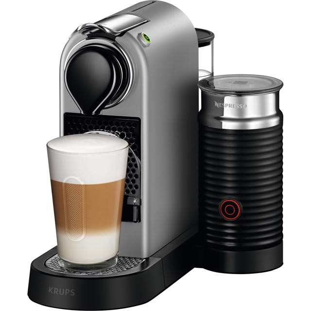 Nespresso by Krups XN760B40 CitiZ & Milk Coffee Machine - Silver