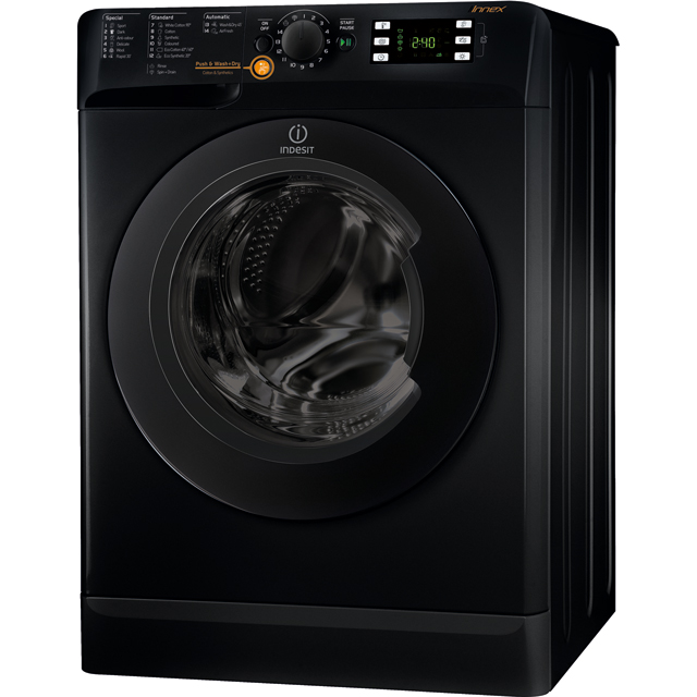 Indesit XWDE861480XKUK 8Kg / 6Kg Washer Dryer with 1400 rpm - Black - A Rated - XWDE861480XKUK_BK - 1