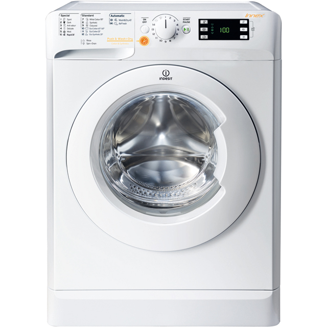 Indesit XWDE961680XWUK 9Kg / 6Kg Washer Dryer with 1600 rpm - White - XWDE961680XWUK_WH - 1